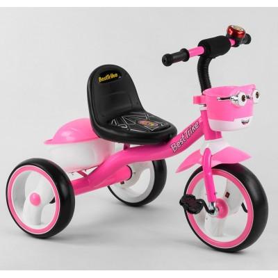Детский трехколесный велосипед Best Trike 94881 со светящимися колесами и музыкой