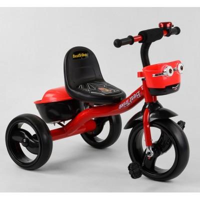 Детский трехколесный велосипед Best Trike 97282 со светящимися колесами и музыкой