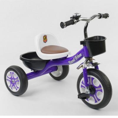 Детский трехколесный велосипед Best Trike LM 1355 Фиолетовый