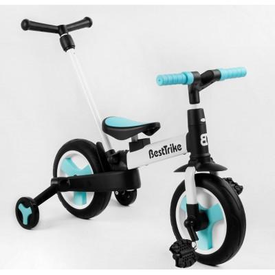 Детский велосипед-трансформер Best Trike 56659 БИРЮЗОВЫЙ (складной)