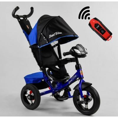 Детский трехколесный велосипед c USB 3390-65-005 Best Trike + пульт ЧЕРНО-СИНИЙ