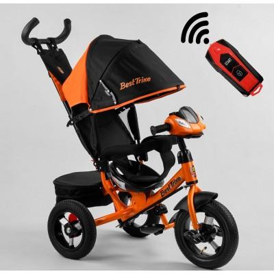 Детский трехколесный велосипед c USB 3390-15-977 Best Trike + пульт ОРАНЖЕВЫЙ
