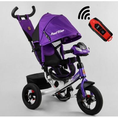 Детский трехколесный велосипед c USB 3390-94-707 Best Trike + пульт ФИОЛЕТОВЫЙ