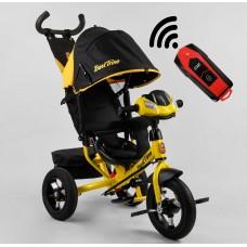 Детский трехколесный велосипед с USB 3390-38-304 Best Trike + пульт ЖЕЛТЫЙ