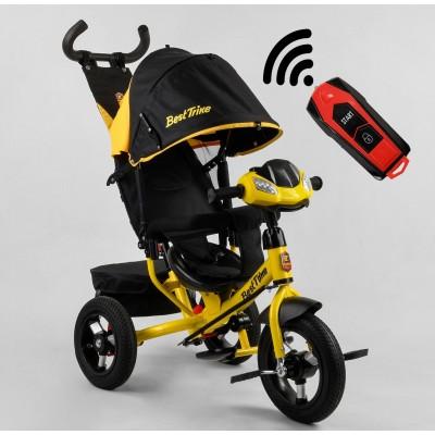 Детский трехколесный велосипед c USB 3390-38-304 Best Trike + пульт ЖЕЛТЫЙ