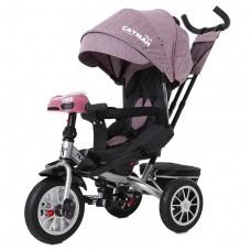 Детский трехколесный велосипед TILLY CAYMAN T-381/4 с пультом и USB Фиолетовый лён