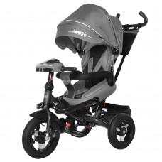 Детский трехколесный велосипед TILLY IMPULSE T-386 + пульт Серый