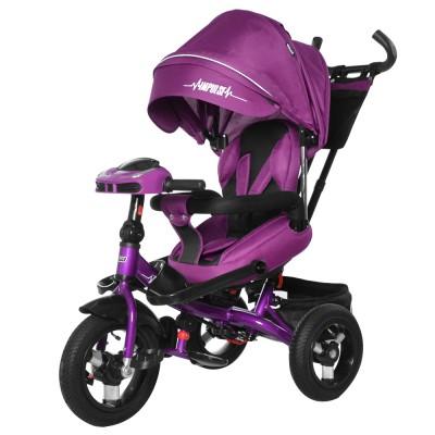 Детский трехколесный велосипед TILLY IMPULSE T-386 + пульт Фиолетовый