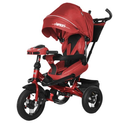 Детский трехколесный велосипед TILLY IMPULSE T-386 + пульт Красный