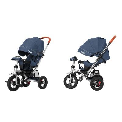 Детский трехколесный велосипед Tilly Travel T-387/1 Синий лён