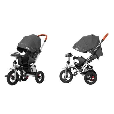 Детский трехколесный велосипед Tilly Travel T-387/1 Темно-серый лён