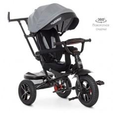 Детский трехколесный велосипед M 4058HA-19-1 Turbo Trike с поворотным сидением СЕРЫЙ