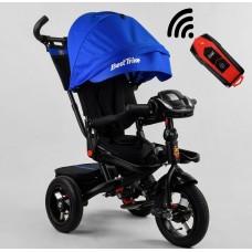 Детский трехколесный велосипед c USB 6088 F-110-44 Best Trike поворотное сидение + пульт СИНИЙ