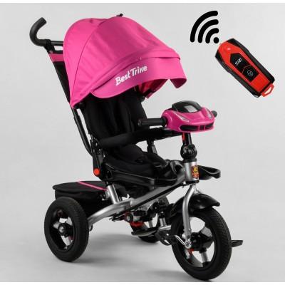 Детский трехколесный велосипед c USB 6088 F -330-58 Best Trike с USB поворотное сидение + пульт РОЗОВЫЙ