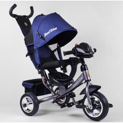 Детский трёхколёсный велосипед Best Trike 6588-11-020 СИНИЙ (серая рама) с фарой