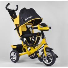 Детский трёхколёсный велосипед Best Trike 6588-21-909 ЖЕЛТЫЙ с фарой
