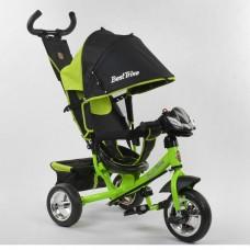 Детский трёхколёсный велосипед Best Trike 6588-23-612 САЛАТОВЫЙ с фарой