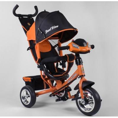 Детский трёхколёсный велосипед Best Trike 6588-30-108 ОРАНЖЕВЫЙ с фарой