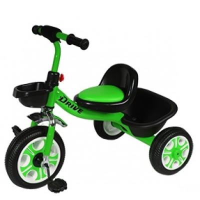 Детский  трехколесный велосипед  DRIVE ORIGINAL Зелёный