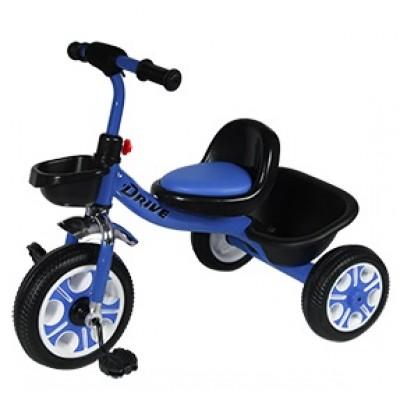 Детский  трехколесный велосипед   DRIVE ORIGINAL  Синий