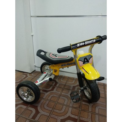 Детский  трехколесный велосипед Kids Sport  Жёлтый