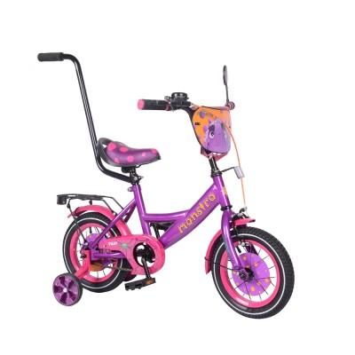 Детский двухколесный велосипед с ручкой Tilly Monstro Т-212211 12 дюймов
