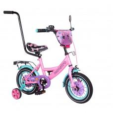 Детский двухколесный велосипед с ручкой Tilly Monstro Т-21229 12 дюймов