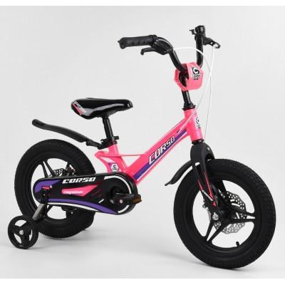 Детский двухколесный велосипед Corso MG-04064 магниевая рама, дисковые тормоза 14 дюймов