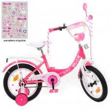 Детский двухколесный велосипед Y1413-1 Profi Princess 14 дюймов