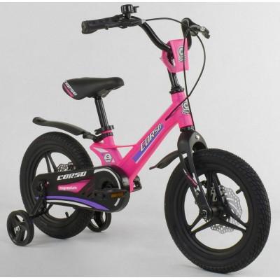 Детский двухколесный велосипед Corso MG-16086 магниевая рама, дисковые тормоза 14 дюймов