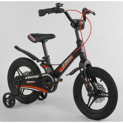 Детский двухколесный велосипед Corso MG-28750 магниевая рама, дисковые тормоза 14 дюймов