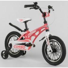 Детский двухколесный велосипед Corso MG-14 S 505 магниевая рама, дисковые тормоза 14 дюймов