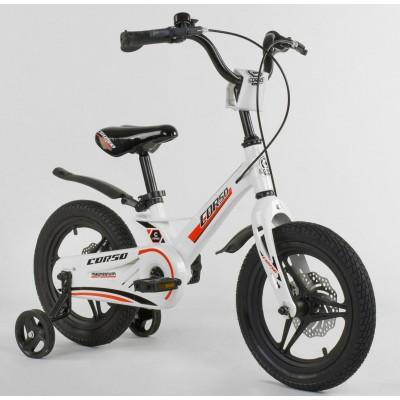 Детский двухколесный велосипед Corso MG-62111 магниевая рама, дисковые тормоза 14 дюймов