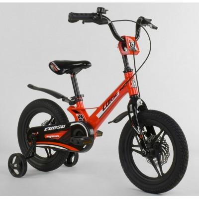 Детский двухколесный велосипед Corso MG-66936 магниевая рама, дисковые тормоза 14 дюймов