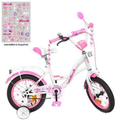 Детский двухколесный велосипед Y1425 Profi Butterfly 14 дюймов с фонариком