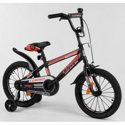 Детский двухколесный велосипед Corso ST-16700 16 дюймов с противоударными дисками