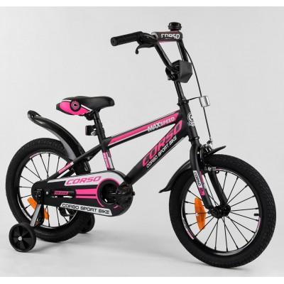 Детский двухколесный велосипед Corso ST-16864 16 дюймов с противоударными дисками