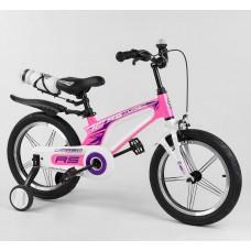 Детский двухколесный велосипед Corso 54226 16 дюймов магниевый, с бутылочкой