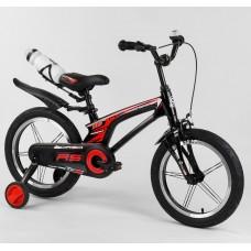 Детский двухколесный велосипед Corso 83564 16 дюймов магниевый, с бутылочкой