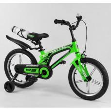 Детский двухколесный велосипед Corso 39373 16 дюймов магниевый, с бутылочкой
