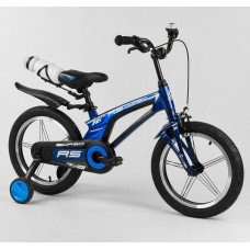 Детский двухколесный велосипед Corso 21235 16 дюймов магниевый, с бутылочкой
