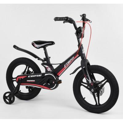 Детский двухколесный велосипед Corso MG-16022 магниевая рама, дисковые тормоза 16 дюймов