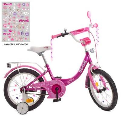 Детский двухколесный велосипед Y1616-1 Profi Princess 16 дюймов с фонариком