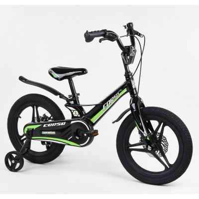 Детский двухколесный велосипед Corso MG-16219 магниевая рама, дисковые тормоза 16 дюймов