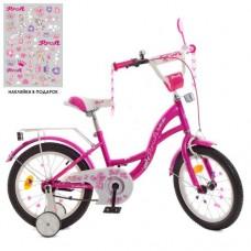 Детский двухколесный велосипед Y1626 Profi Butterfly 16 дюймов с фонариком