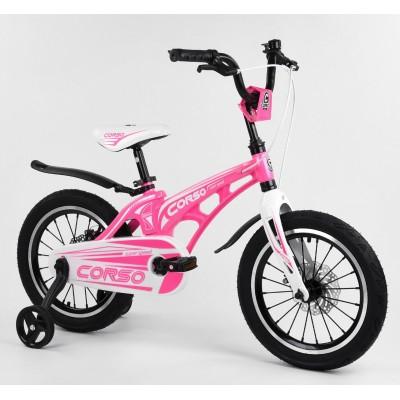 Детский двухколесный велосипед Corso MG-16304 магниевая рама, дисковые тормоза 16 дюймов