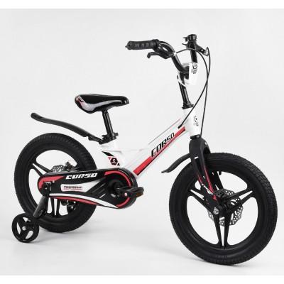 Детский двухколесный велосипед Corso MG-16425 магниевая рама, дисковые тормоза 16 дюймов