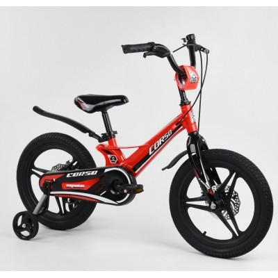 Детский двухколесный велосипед Corso MG-16536 магниевая рама, дисковые тормоза 16 дюймов