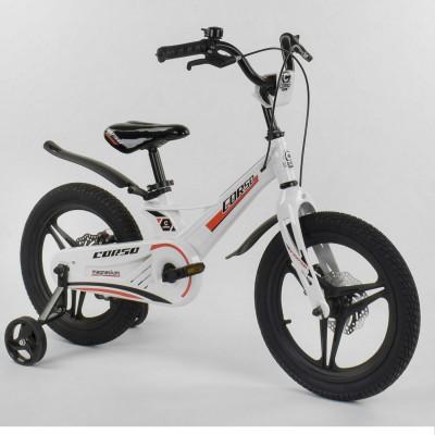 Детский двухколесный велосипед Corso MG-54655 магниевая рама, дисковые тормоза 16 дюймов