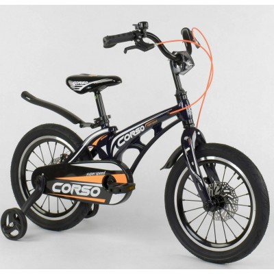 Детский двухколесный велосипед Corso MG-16 Y 577 магниевая рама, дисковые тормоза 16 дюймов